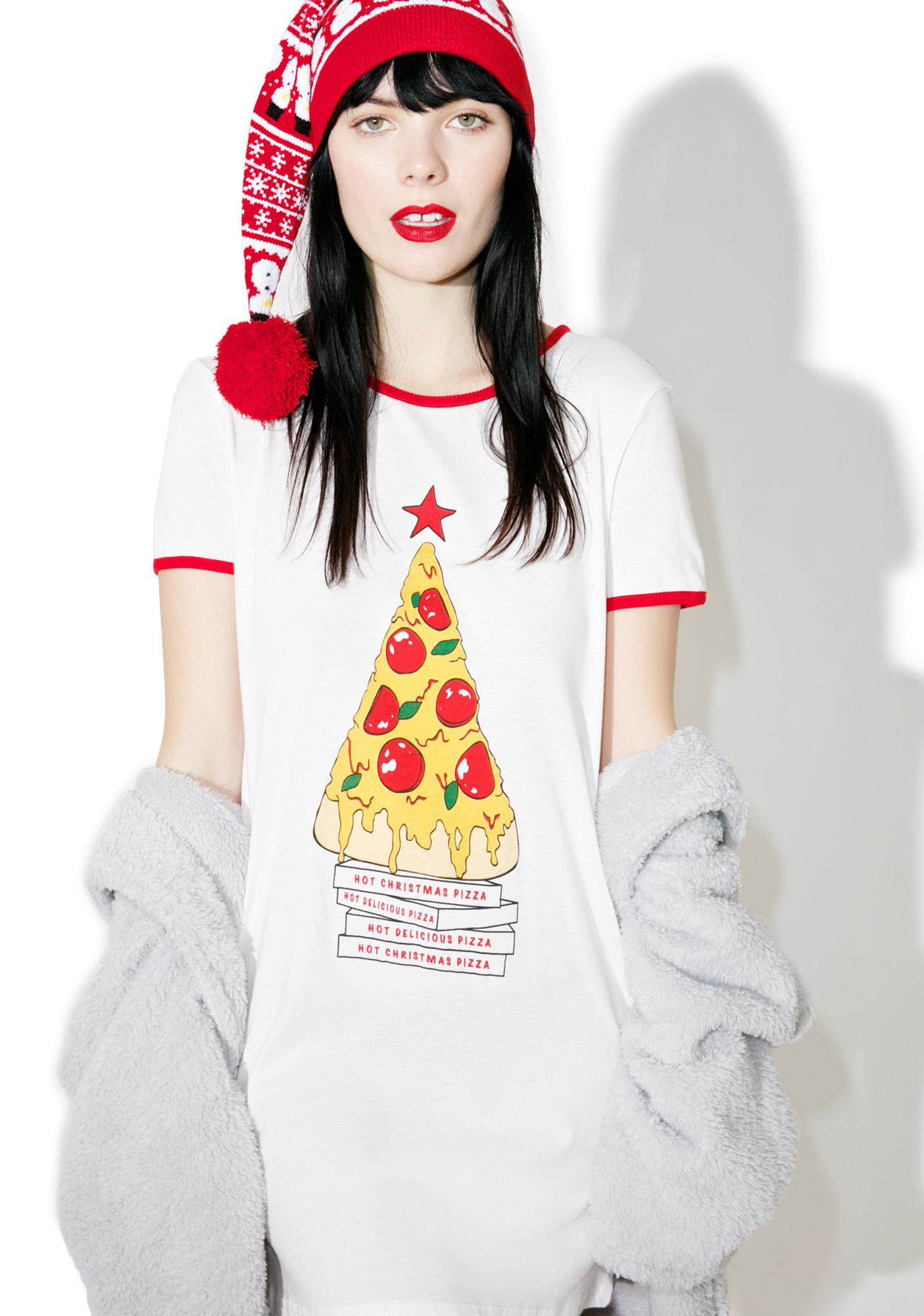 Mink Pink Oh Christmas Tree Tee Dress