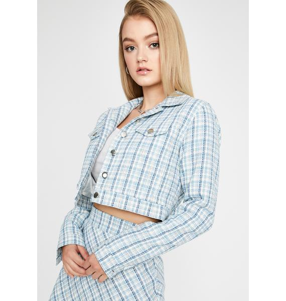 Sugar Thrillz We're Going Shopping Cropped Jacket