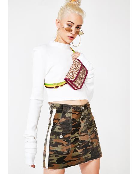 Insta Model Camo Skirt