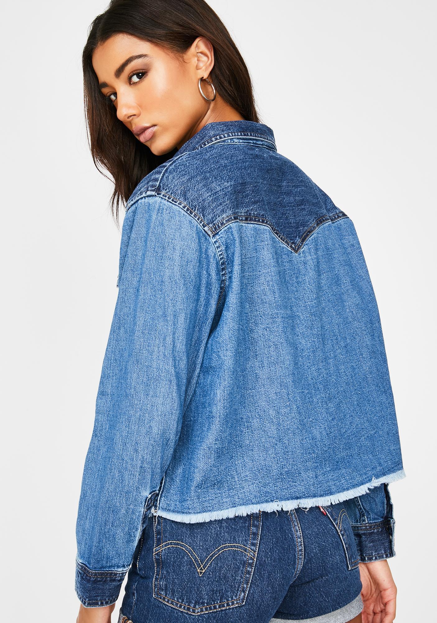 Levis Mirella Raw Edge Western Denim Jacket