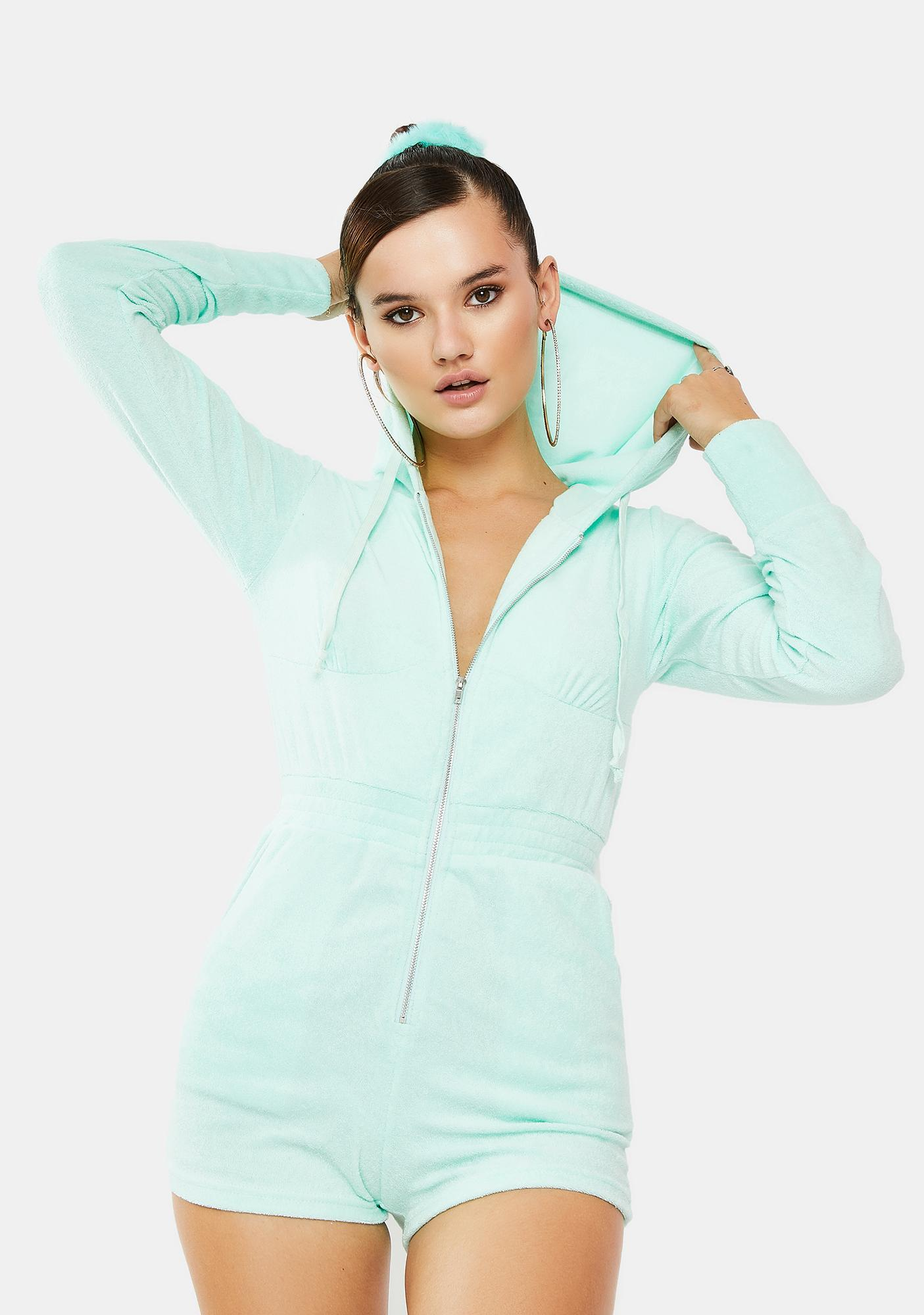 Topaz Go Easy Terry Cloth Romper