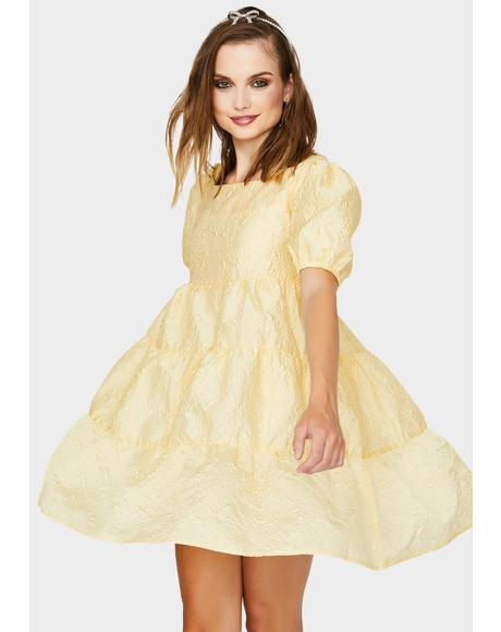 Buttercup Puff Sleeve Mini Dress