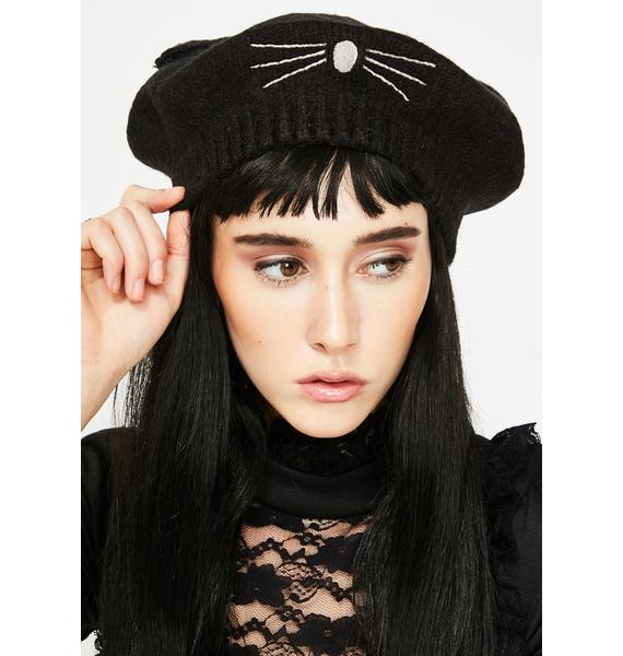 Ms. Whiskers Cat Beret