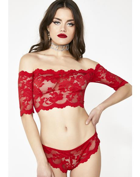Rose N' Thorn Lace Set