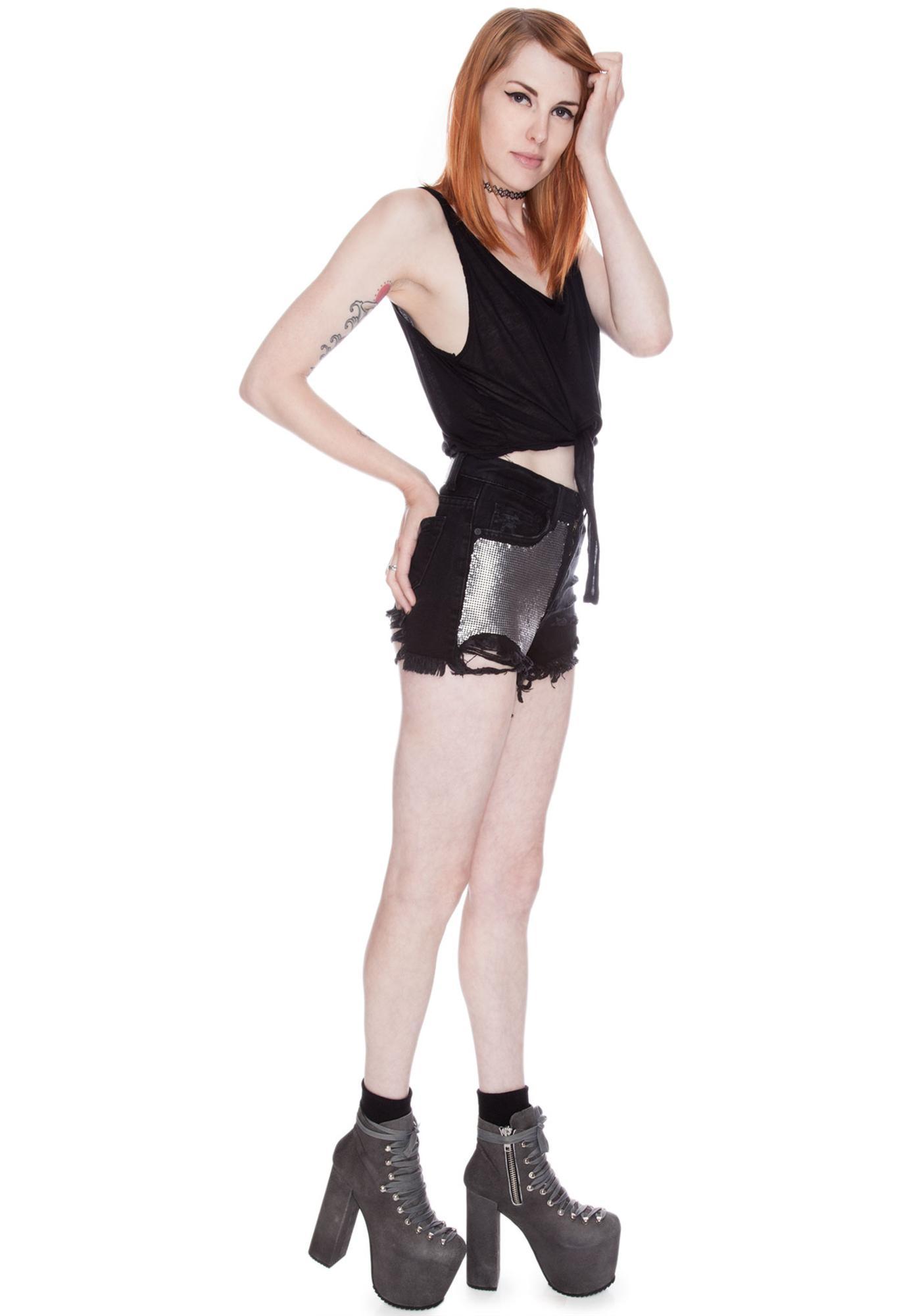 UNIF Metal Shorts