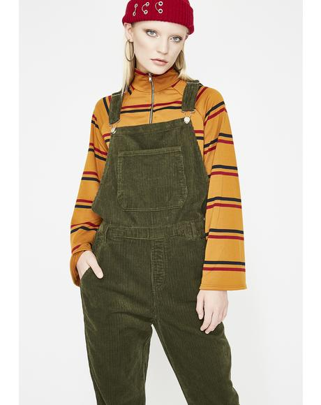 In Full Effect Corduroy Overalls