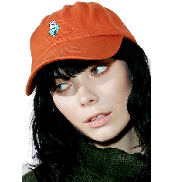 RIPNDIP Orange Nermal Leaf Dad Hat