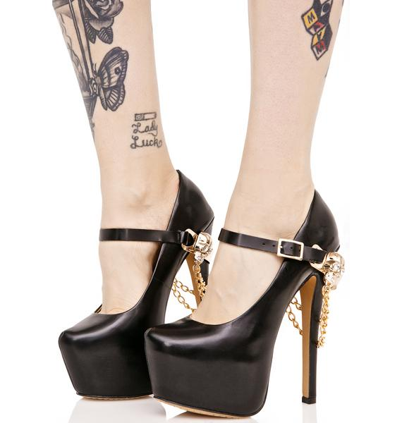 Treasure Huntress Chained Heels
