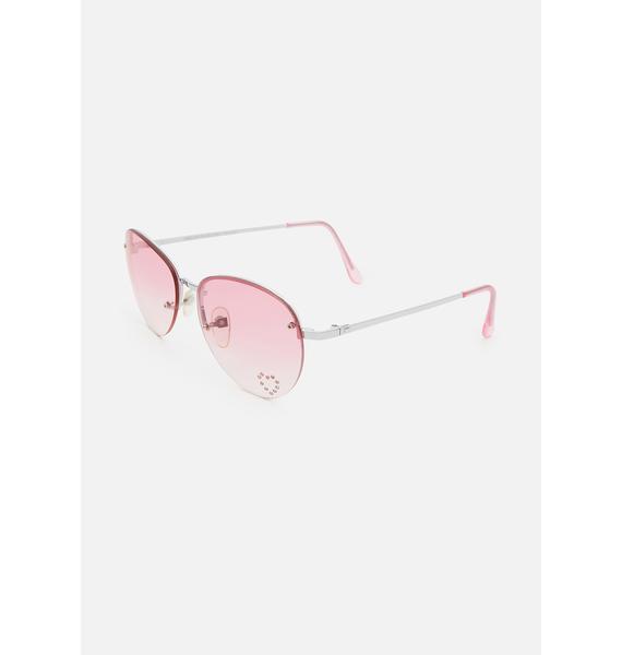 Good Times Eyewear Pink Fabulous Aviator Sunglasses