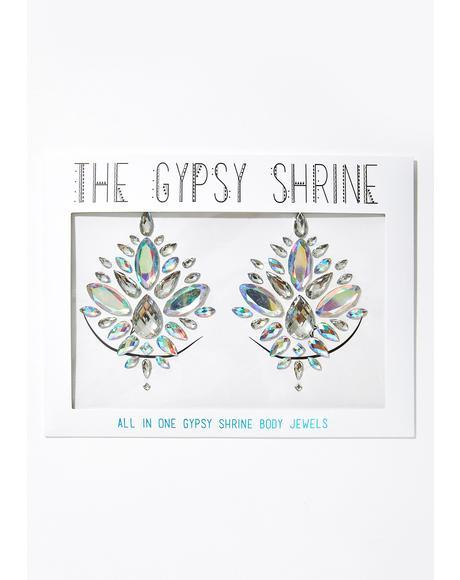 Silver Diamond Jewel Pasties