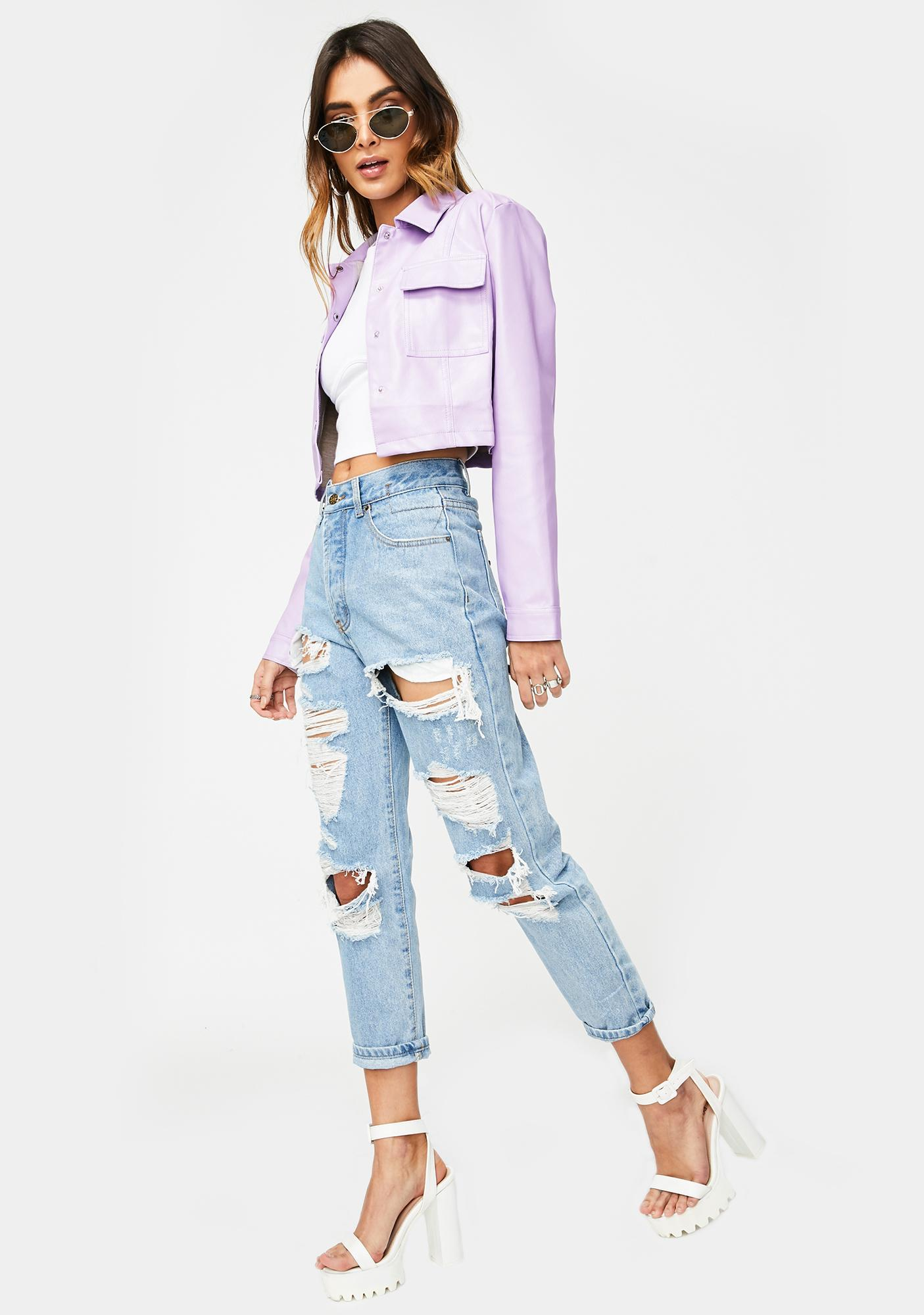 Lioness The New Rules Distressed Jeans