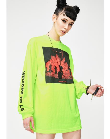 Neon Post Modern Long Sleeve Graphic Tee