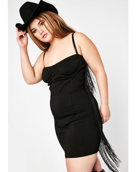 Can't Fight The Moonlight Fringe Dress