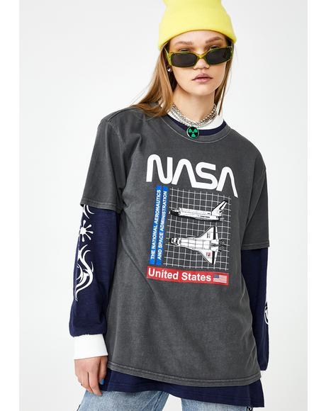 Nasa Shuttle Grid Graphic Tee