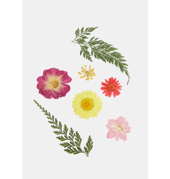SHRINE Multicolor Pressed Flower Cosmetic Decals