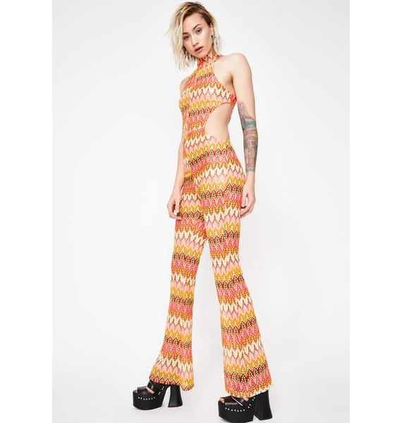 She's Foxy Crochet Jumpsuit