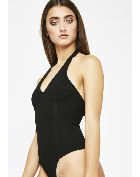 Midnight Be My Lova Underwire Bodysuit