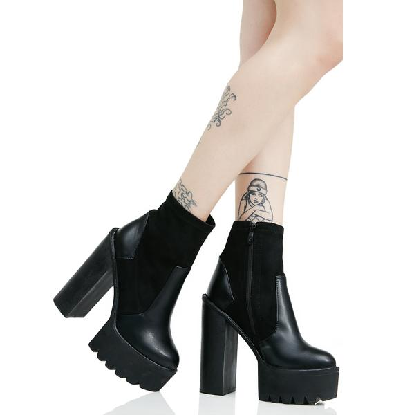 Public Desire Karmen Cleated Sock-Fit Ankle Boots