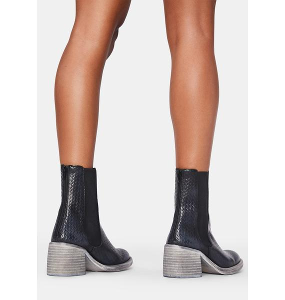 Free People Black Essential Chelsea Boots