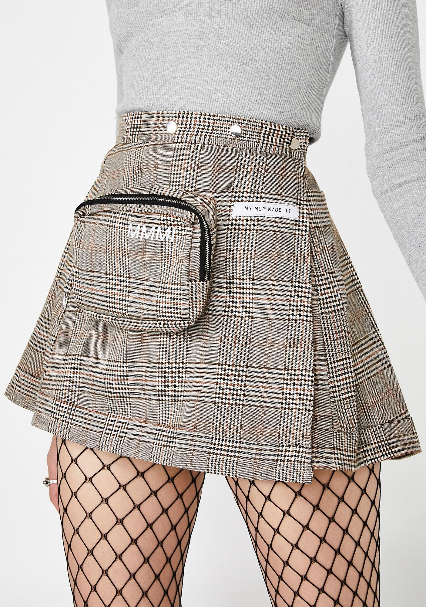 b9585b657 My Mum Made It Plaid Pencil Case Pleat Skirt | Dolls Kill