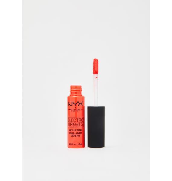 NYX Professional Makeup Atlanta Electro Brights Matte Lip Cream
