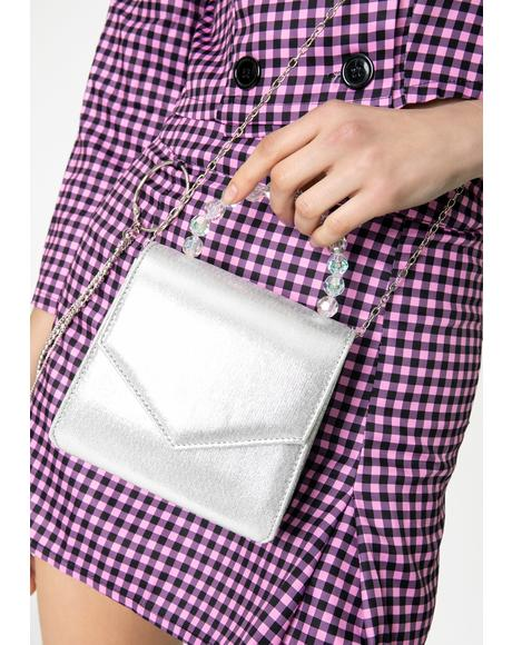 Slate Crystal Clarity Crossbody Purse