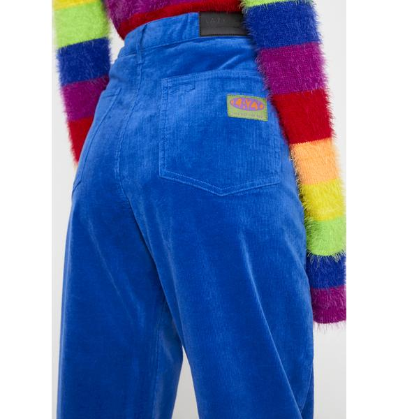 Lazy Oaf Electric Blue Corduroy Pants