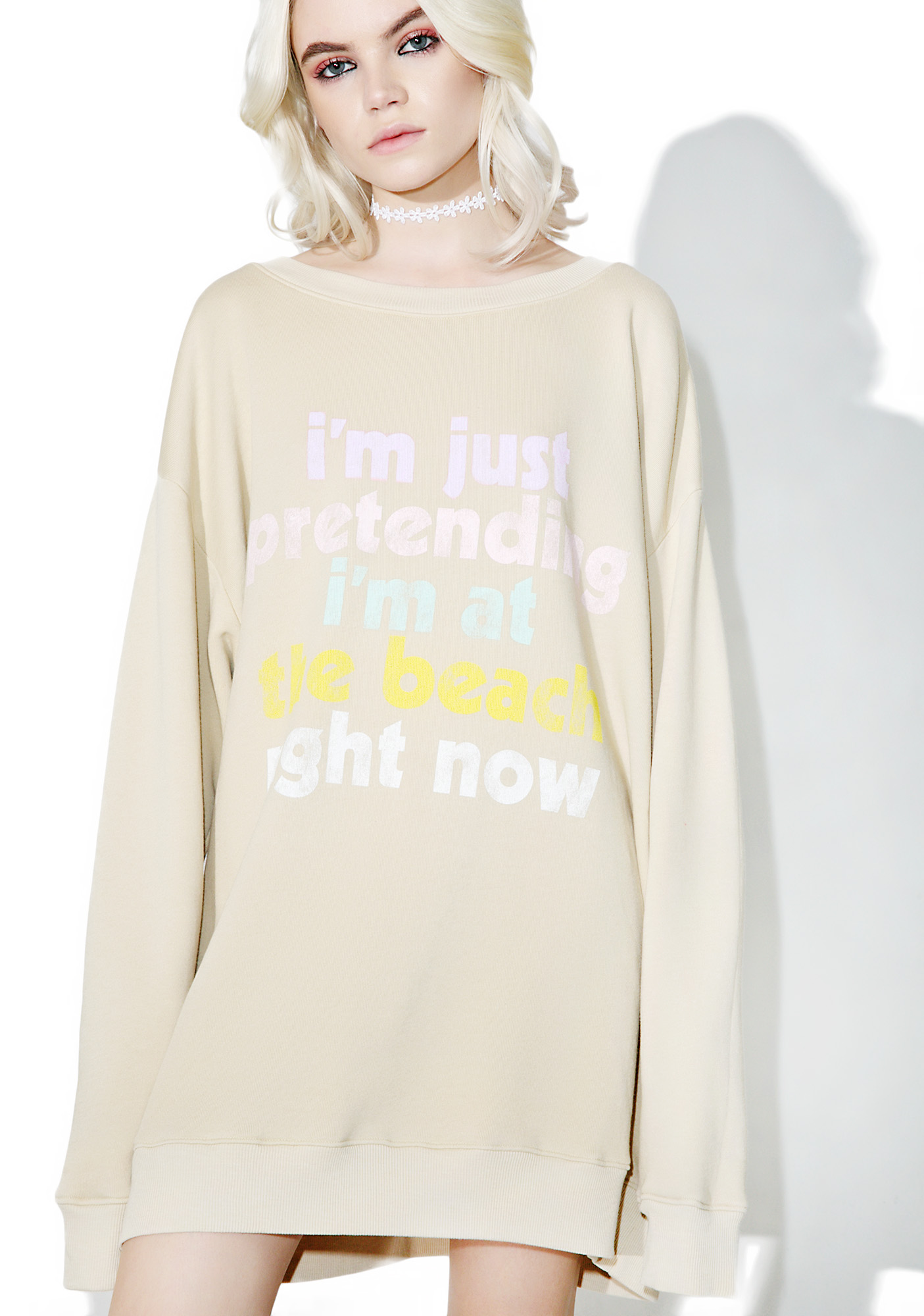 Wildfox Couture Play Pretend Roadtrip Sweater