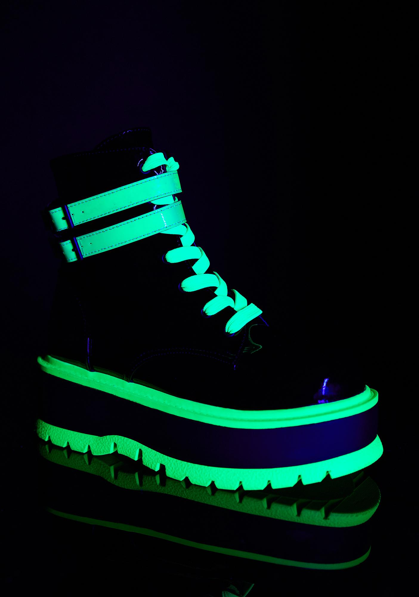 Demonia Chemical Fuse UV Platform Boots