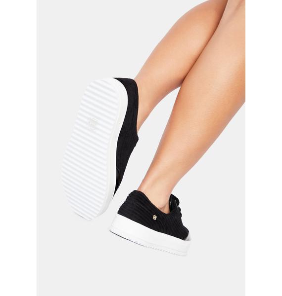 Petite Jolie Black Torrington Platform Sneakers