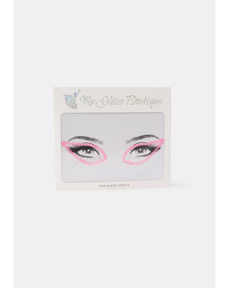 Pink Rhinestone Eye Gem Pack