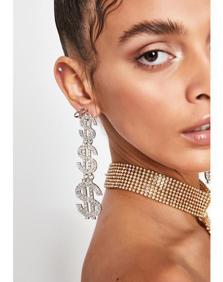 Cash Ho Rhinestone Earrings