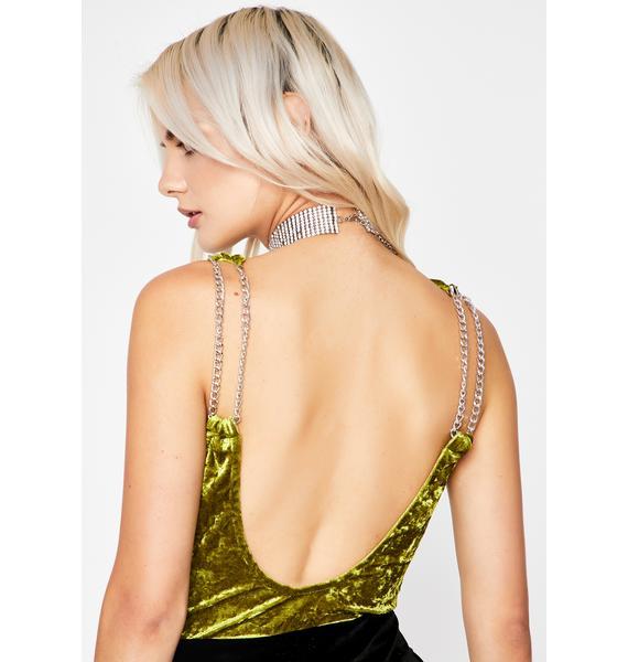 Dank Flirty Fantasy Velvet Bodysuit