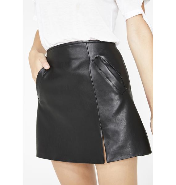 Blank NYC Latch On Mini Skirt
