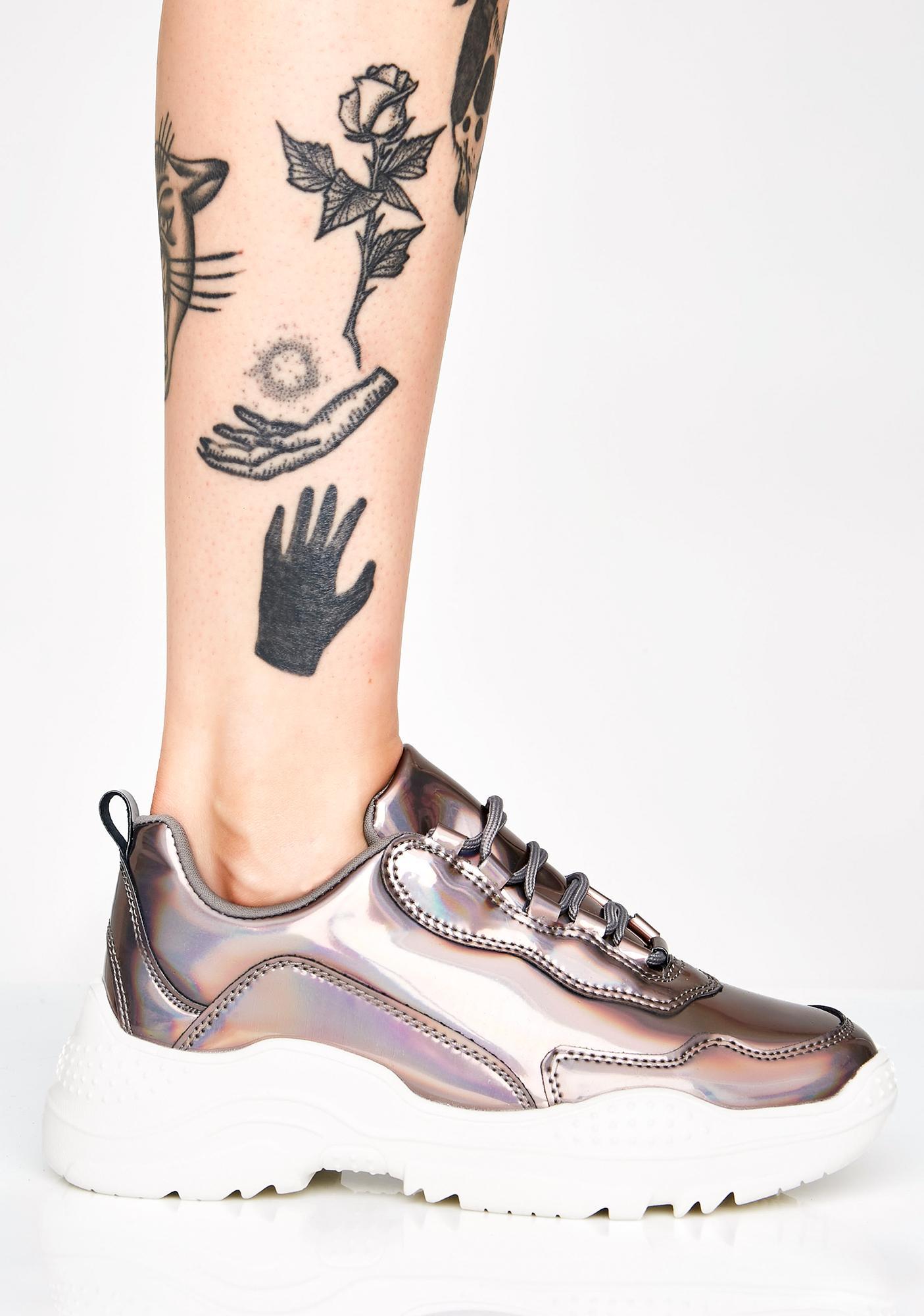 Slate Prismatic Pounce Sneakers