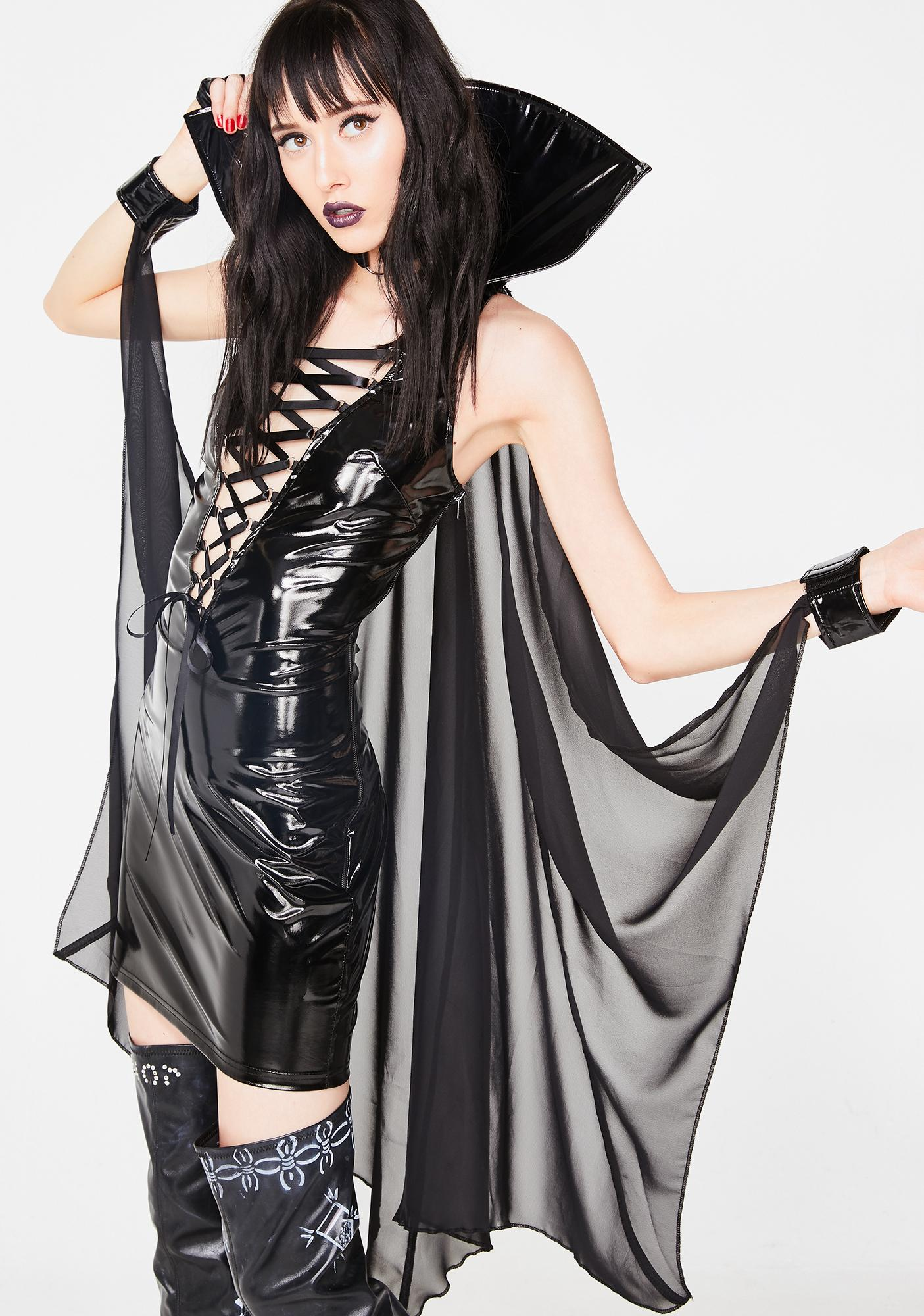 Dolls Kill Vampiress Of Seduction Costume Set
