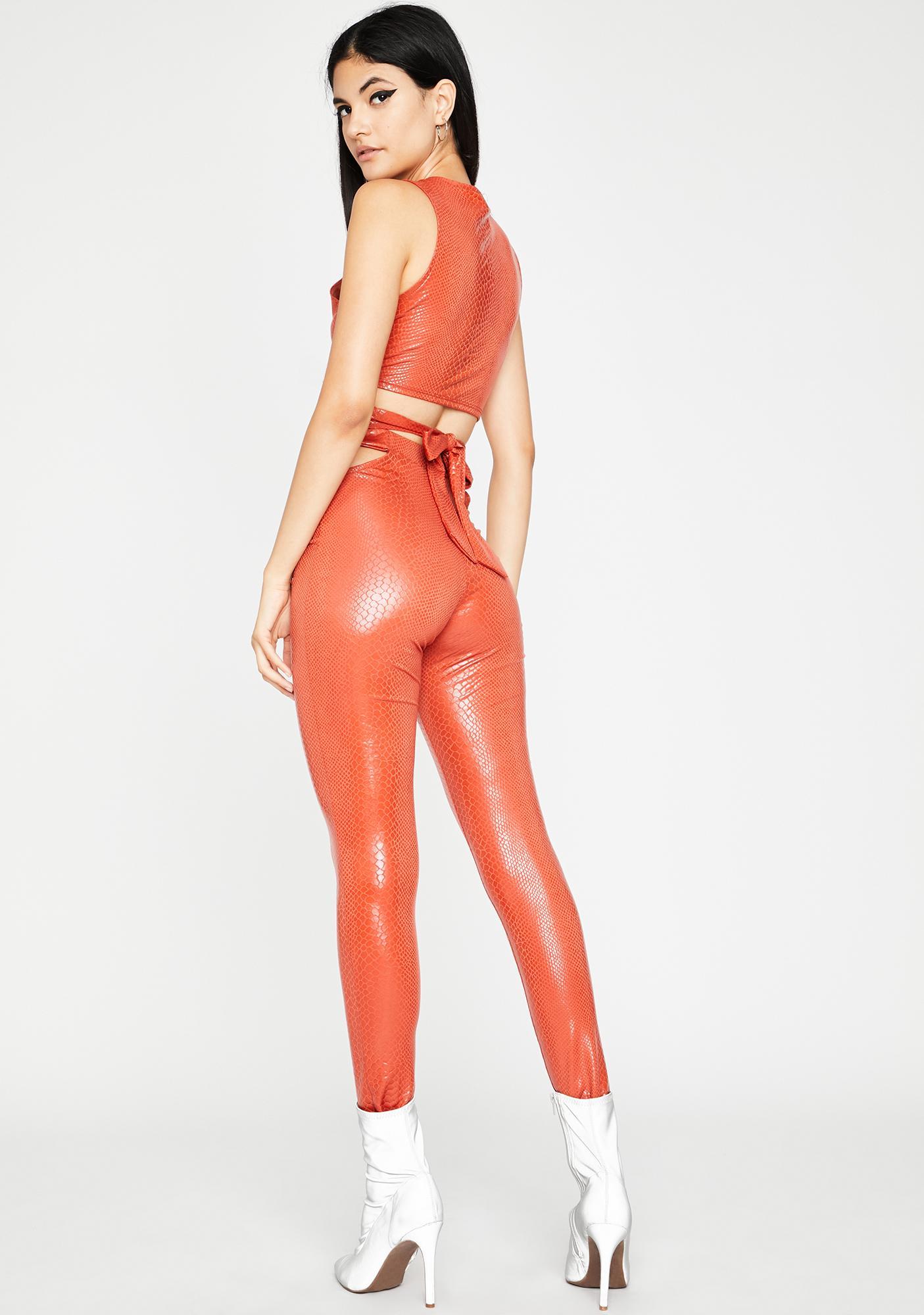 Rust Totally Hiss'terical Pant Set