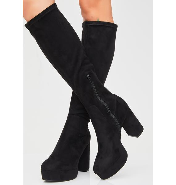 Chinese Laundry Nancy Suedette Platform Boots