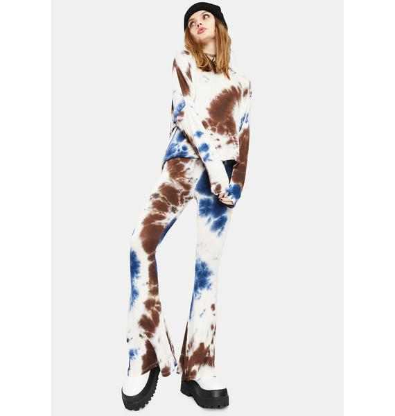 Penny Not In The Mood Tie Dye Flares