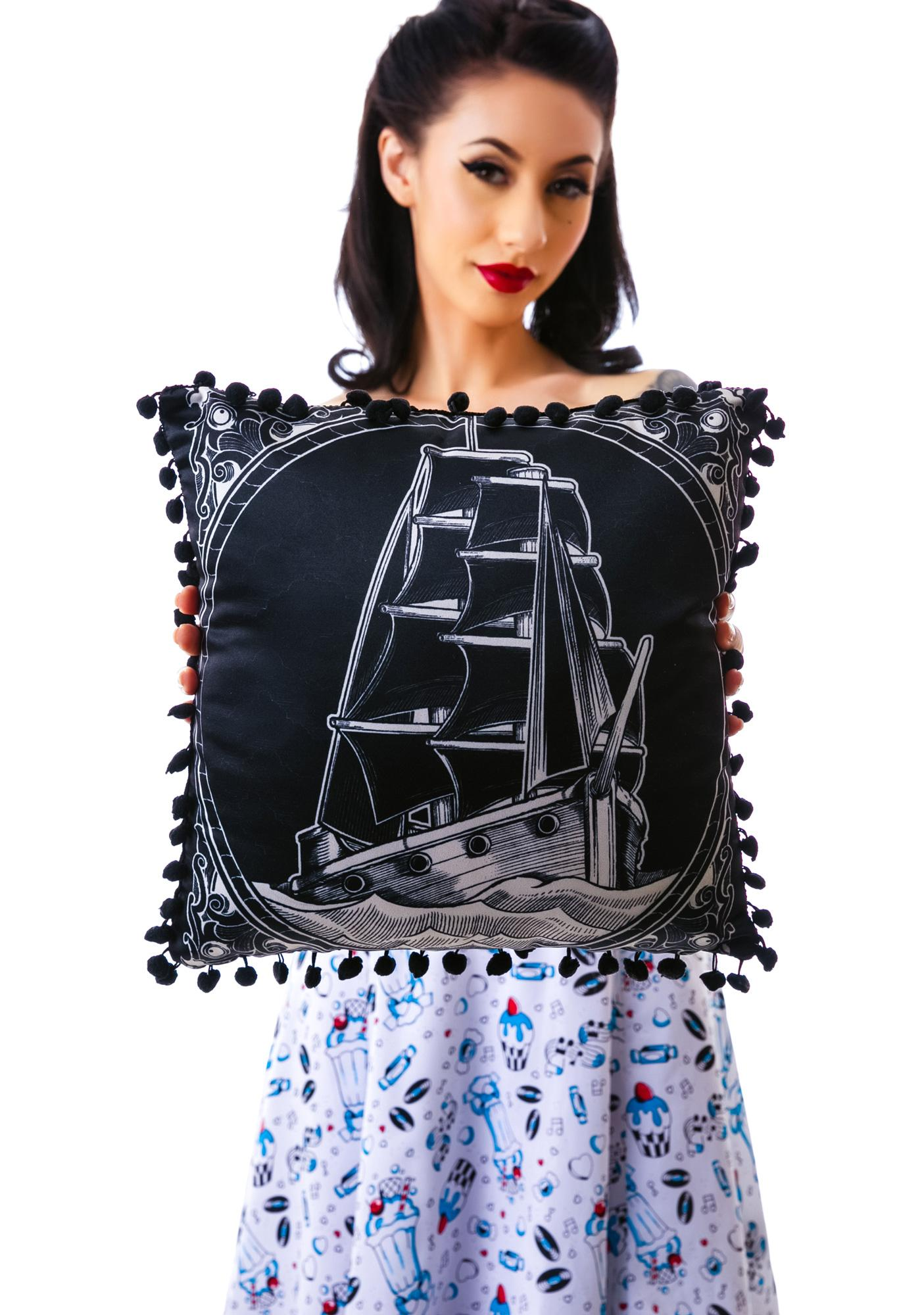 Sourpuss Clothing Clipper Ship Pillow