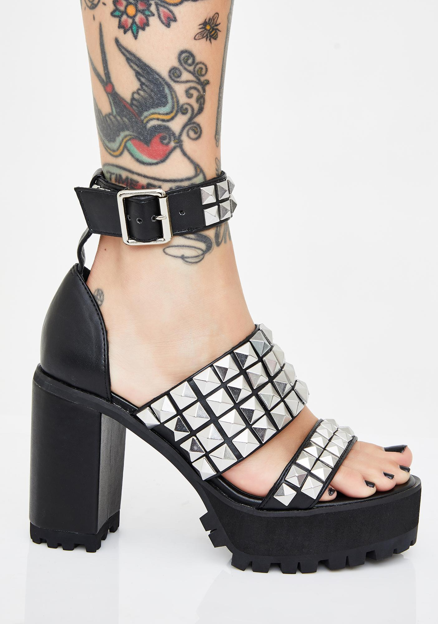 Current Mood Silence Breaker Studded Heels