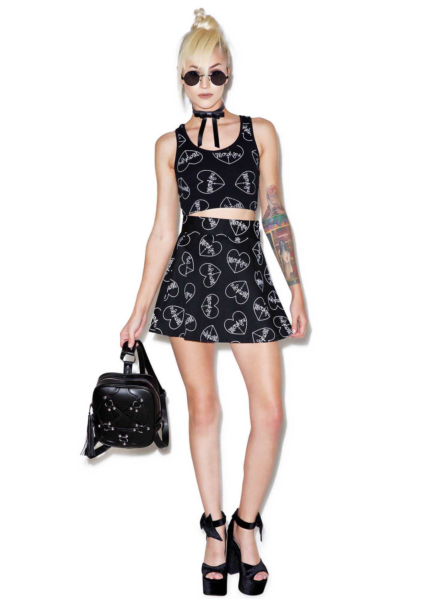 Morph8ne Morph8ne Love Skater Skirt
