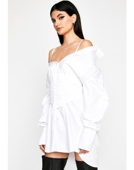 Snatched For The Gods Shirt Dress