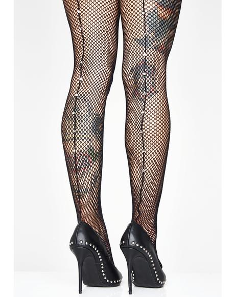 Diamond Dreams Fishnet Tights