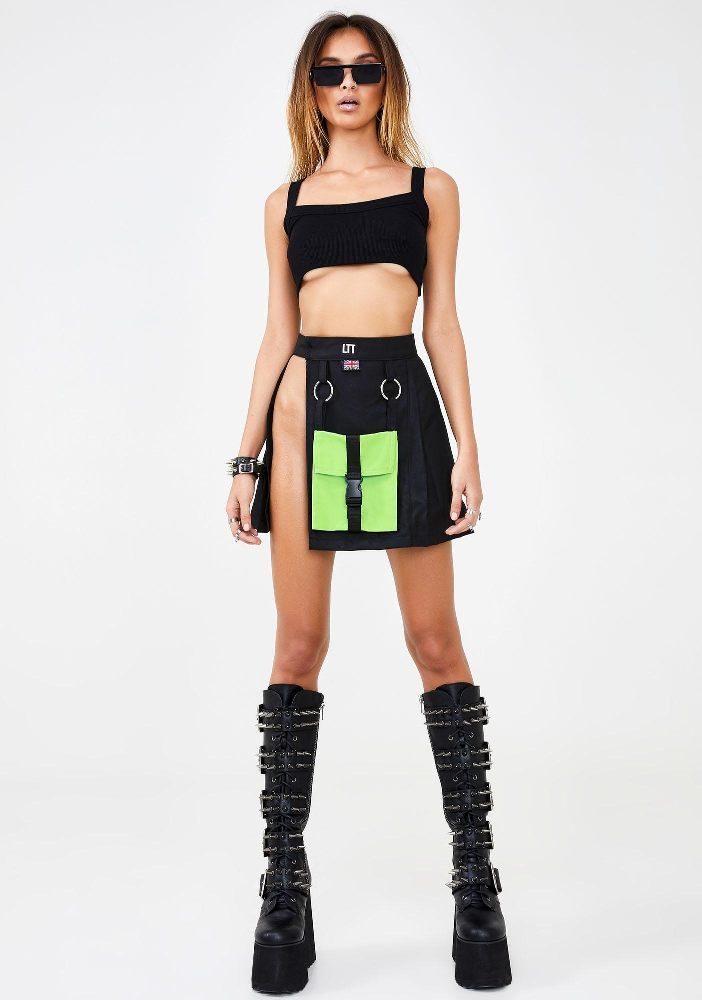 LOVE TOO TRUE Cypunk Utility Skirt