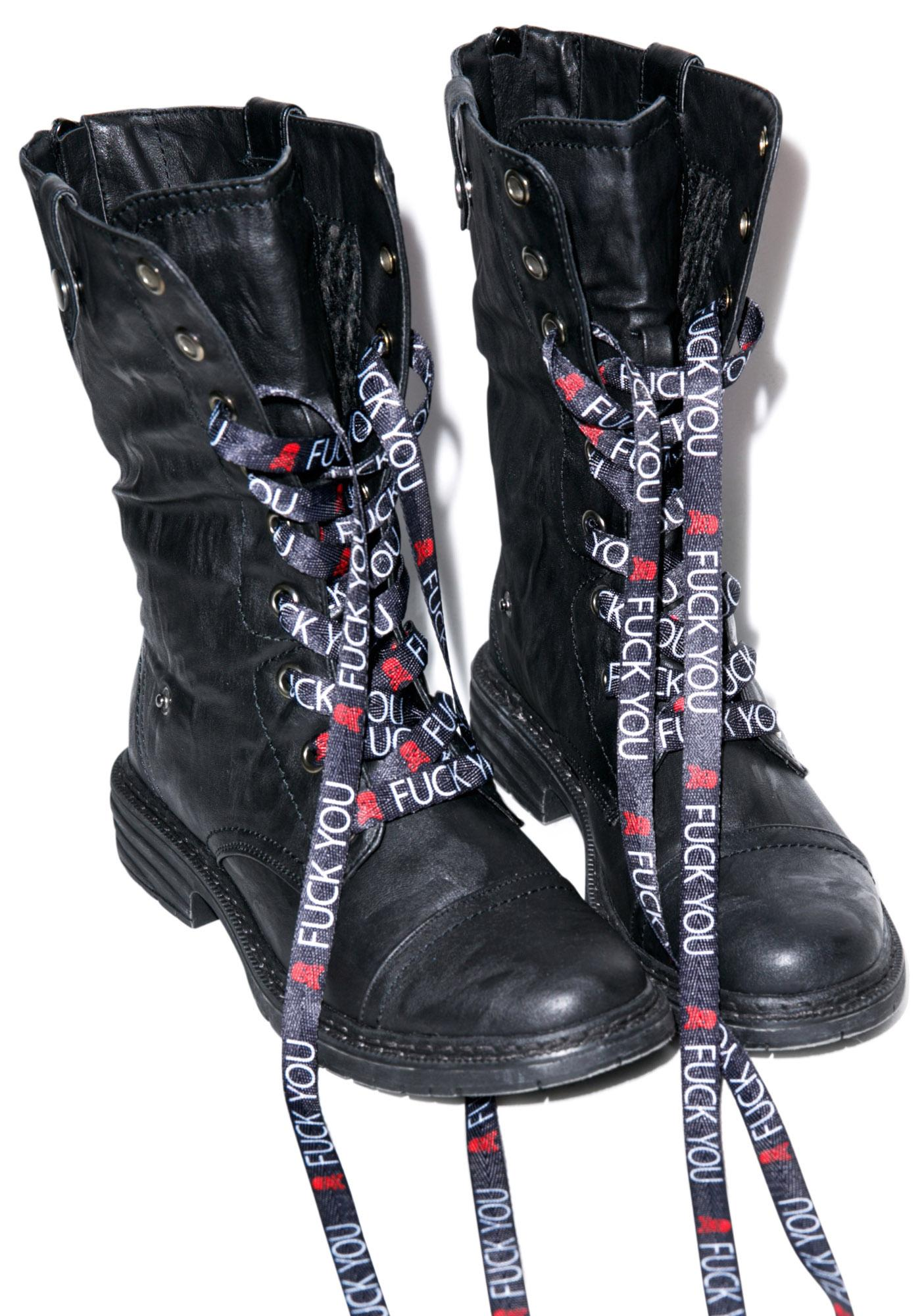 Sourpuss Clothing F*ck You Laces
