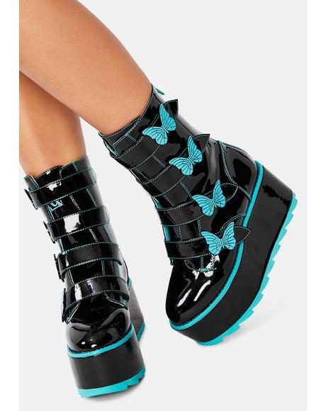 Karma Butterfly Platform Boots