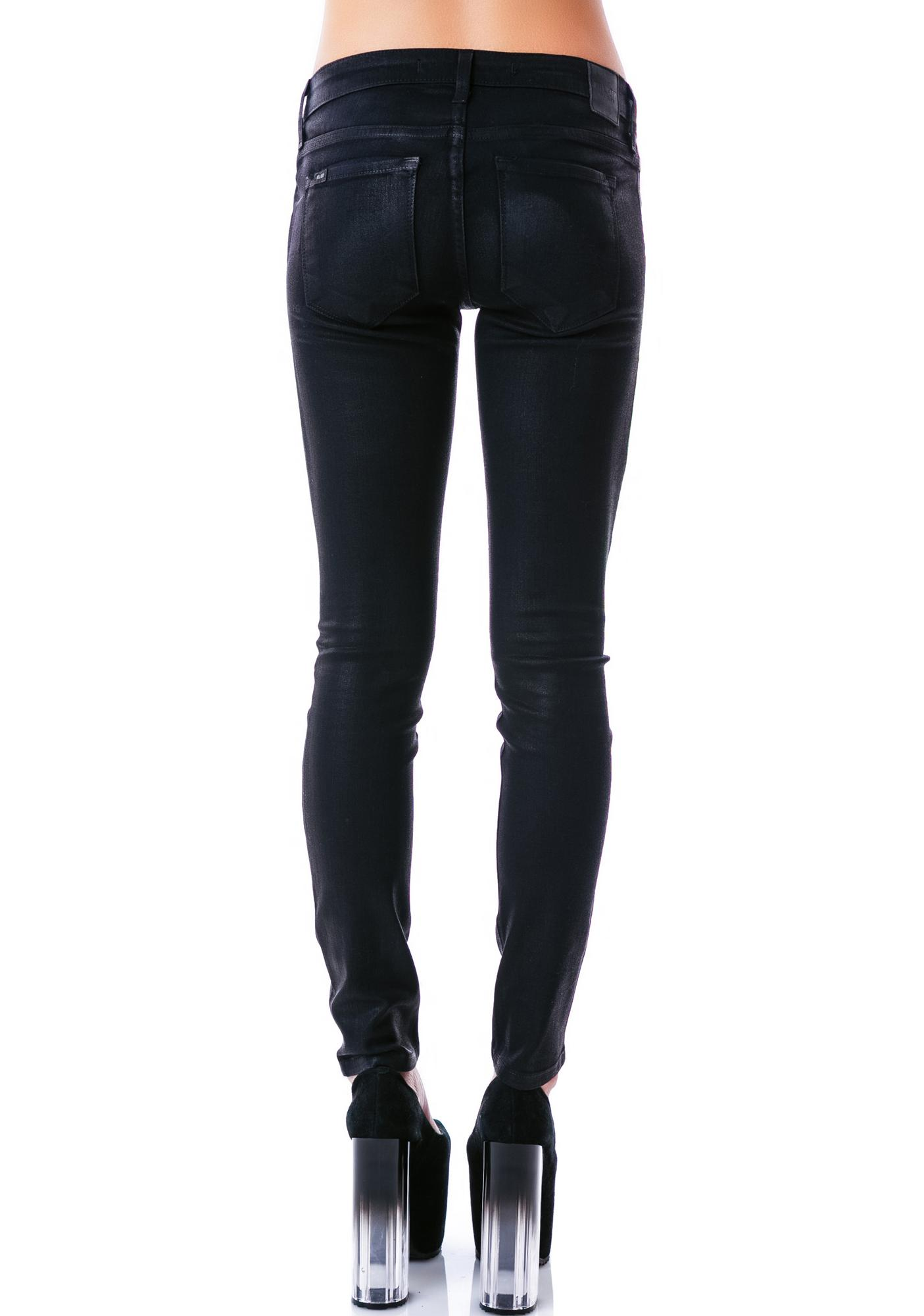 Kill City Wax Coated Stretch Junkie Jeans
