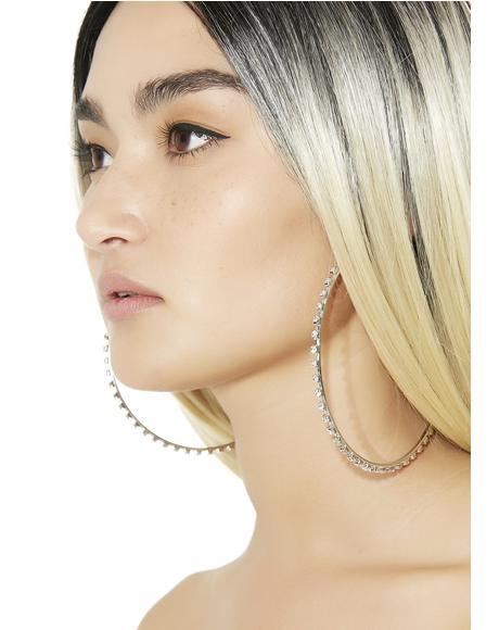 LaBeija Rhinestone Hoop Earrings
