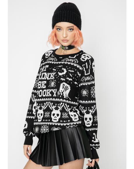 Eat Drink N' Be Spooky Knit Sweater
